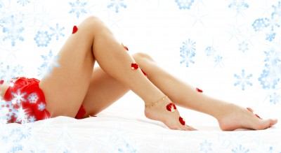 Christmassy legs and feet